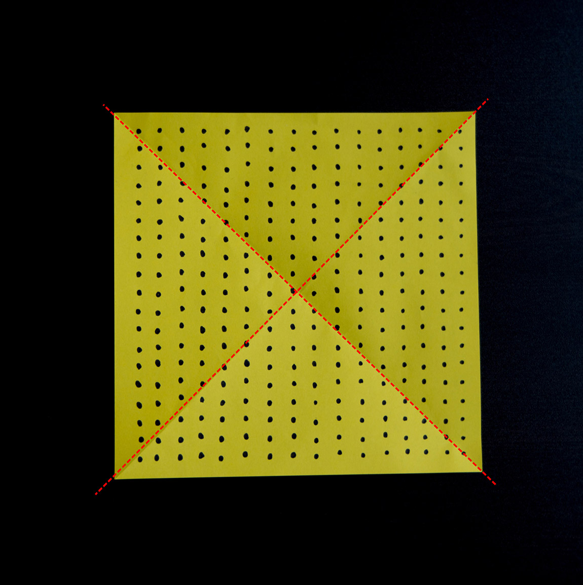Côté pois, marque les diagonales