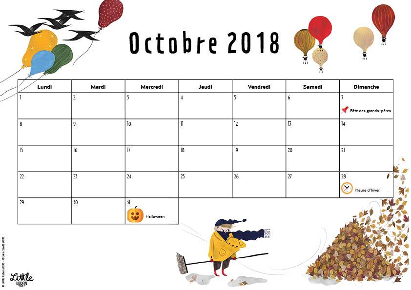 Calendrier - octobre