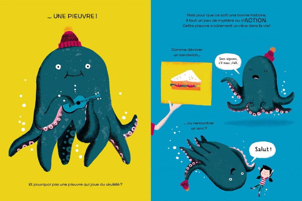 """Résultat de recherche d'images pour """"L'histoire d'une pieuvre fan de ukulélé qui rêvait de voyages intergalactiques"""""""