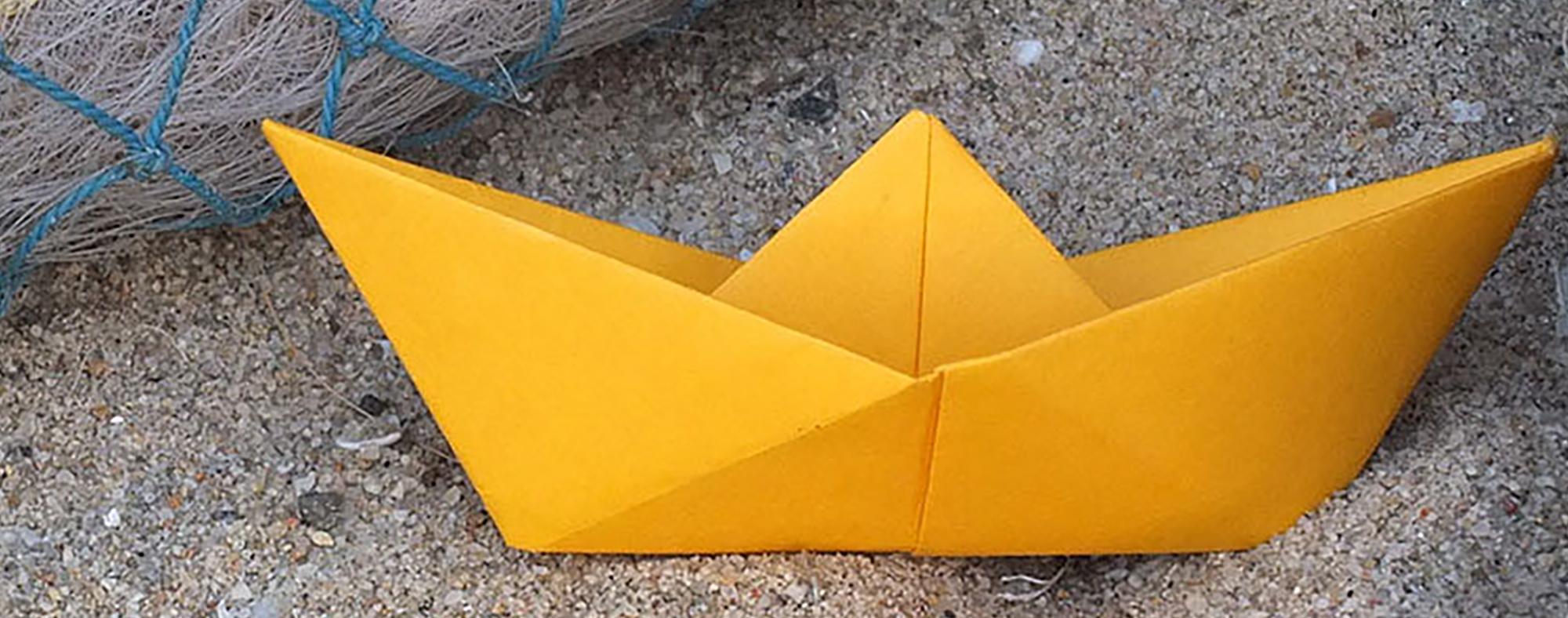Origami Petit Bateau De Papier Little Urban